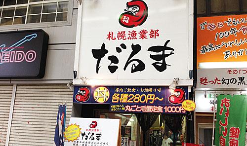 札幌狸小路だるま