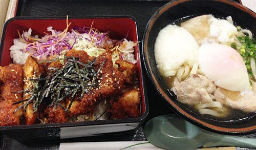 桜島鶏ソースかつ膳&黒豚うどんセット