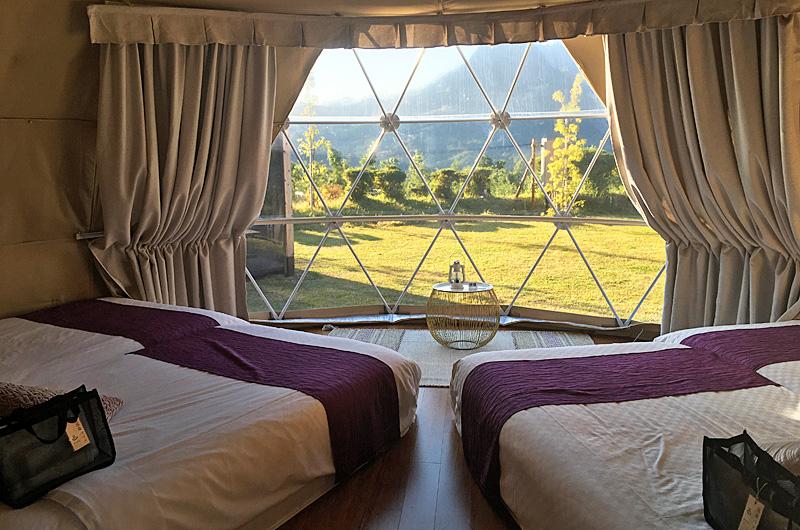 テント内 ベッド