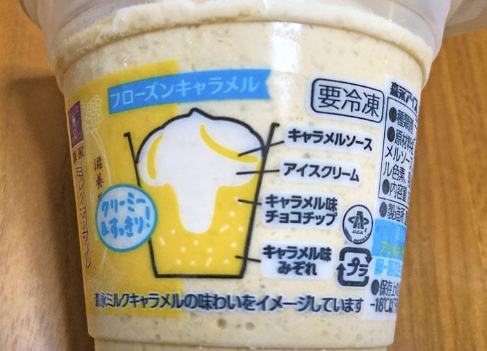 森永ミルクキャラメル味 フローズンキャラメル 側面
